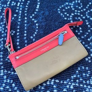 COACH Legacy Colorblock Leather Wristlet